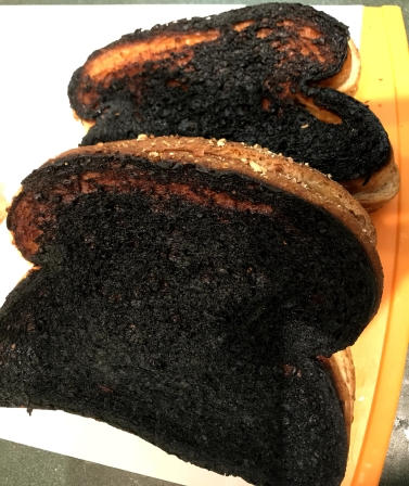 burned sandwich
