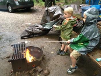 Camping in the rain1
